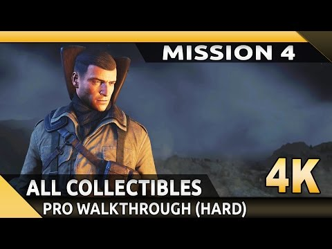 Sniper Elite 4 (PC) - 4K - Mission 4  Lorino Dockyard - All Collectibles/Optional Objectives