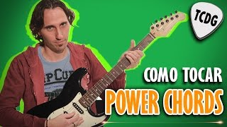 Como Tocar Acordes De Rock En Guitarra Eléctrica | How To Play Power Chords On Electric Guitar TCDG