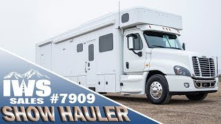 2019 White Show Hauler - 45' Freightliner Cascadia Chassis - IWS Motor Coaches Stock #7909