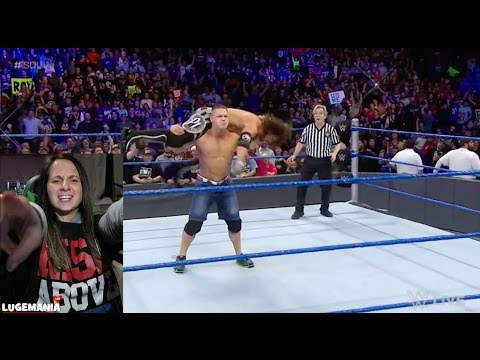 WWE Smackdown 1/17/17 AJ Styles vs The Miz