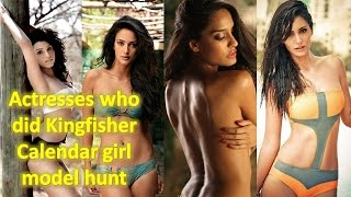 Famous bollywood actresses who did Kingfisher Calender before bollywood