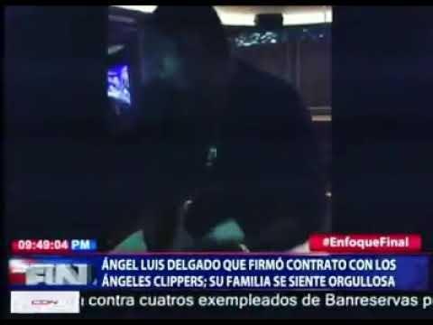 Dominicano Angel Luis Delgado  Firmó Un Contrato Con Los Angeles Clippers en la nba