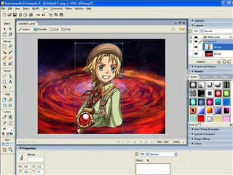 Tutorial:How to make backgrounds in macromedia fireworks 8.0 ...