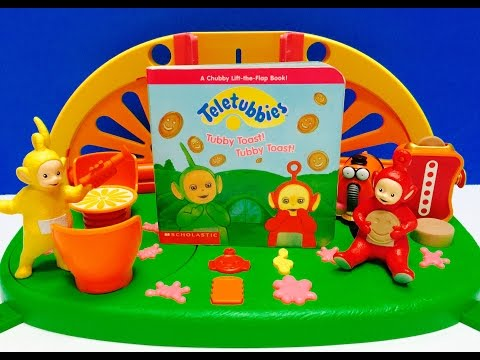 TELETUBBIES Toys Read Along TUBBY TOAST Board Book