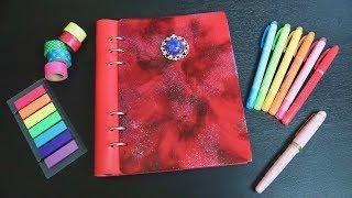レジンで手帳の表紙を作る【clipbook】天然石風の飾りも DIY Resin Notebook Cover