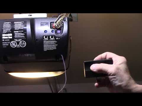 How To Program A Remote For A Liftmaster Chamberlain Or Sears Garage Door Opener Youtube