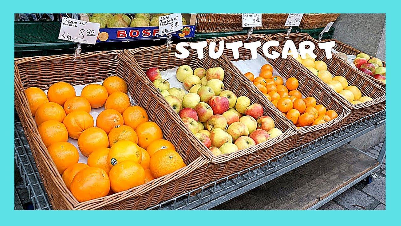 Stuttgart Iconic Fruit And Vegetable Market At Marktplatz