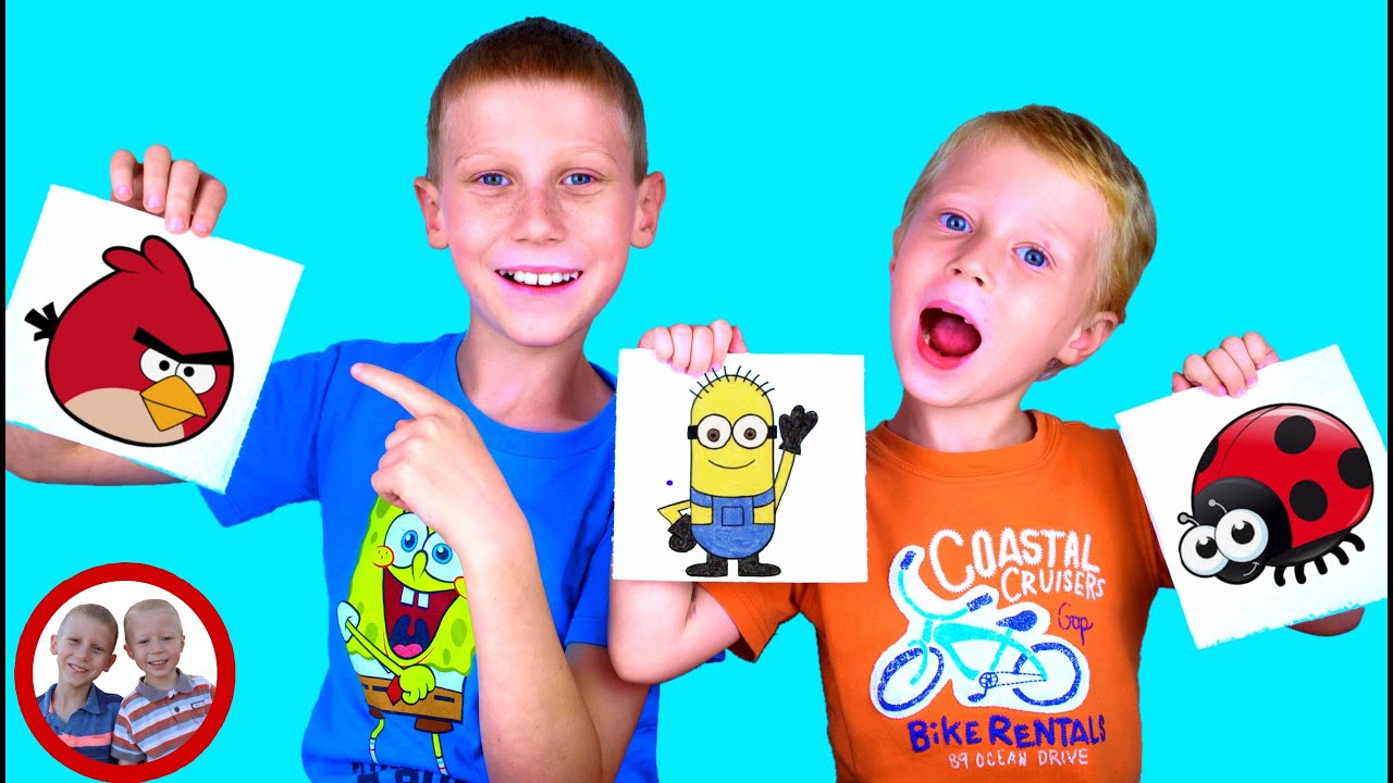 Magic Paper Towel Art Easy DIY Science Experiment for kids   Experiment with Mike and Jake प्रयोग