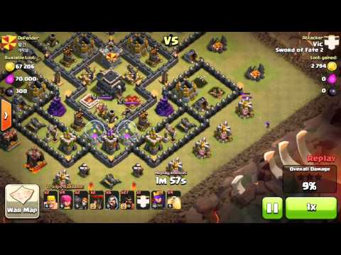 Vic GoHoLo 3 Star Th9 Vs Th9. Clan: Sword Of Fate