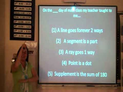 Geometry Ch 1 Math Vocabulary Song.wmv - YouTube