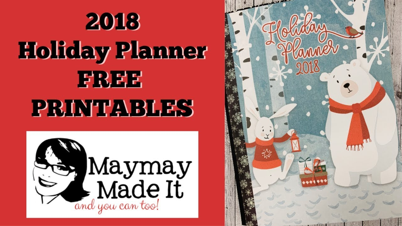 photograph regarding Free Printable Christmas Planner known as Vacation Planner 2018 Absolutely free PRINTABLE