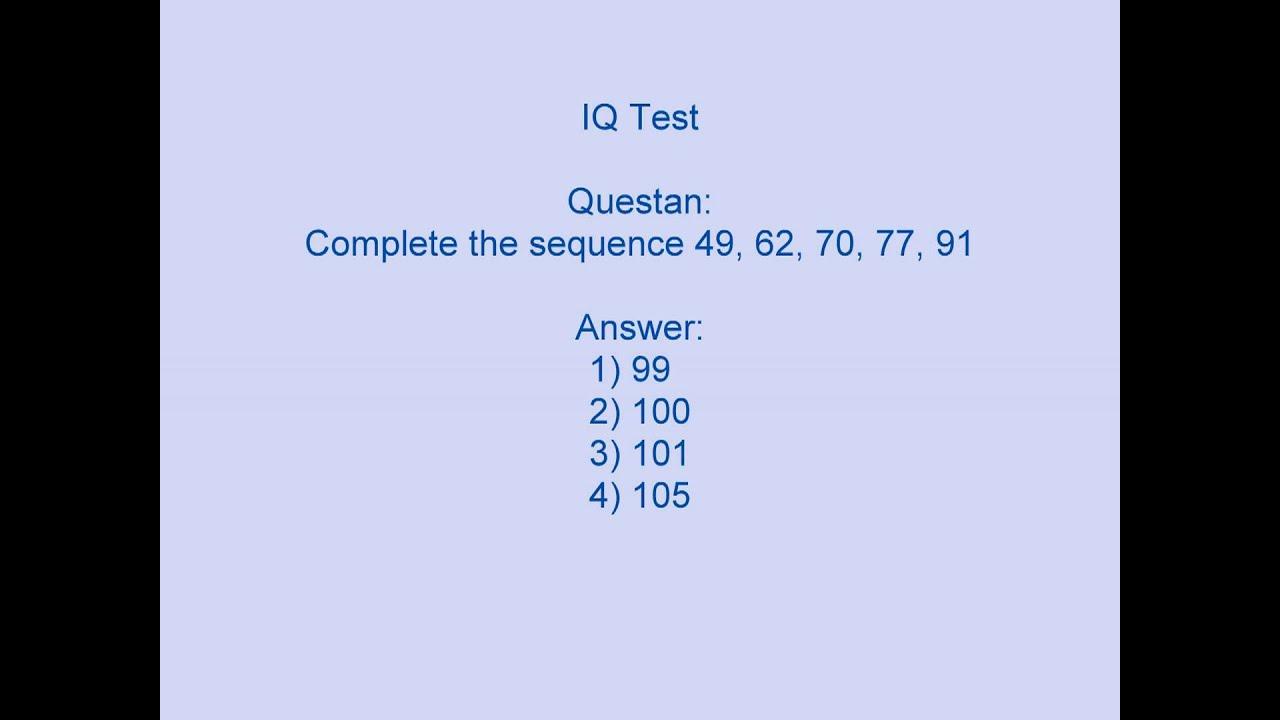 Iq Test Mcq Questi Nd Nswer 3 Gener L Knowledge Video Quiz