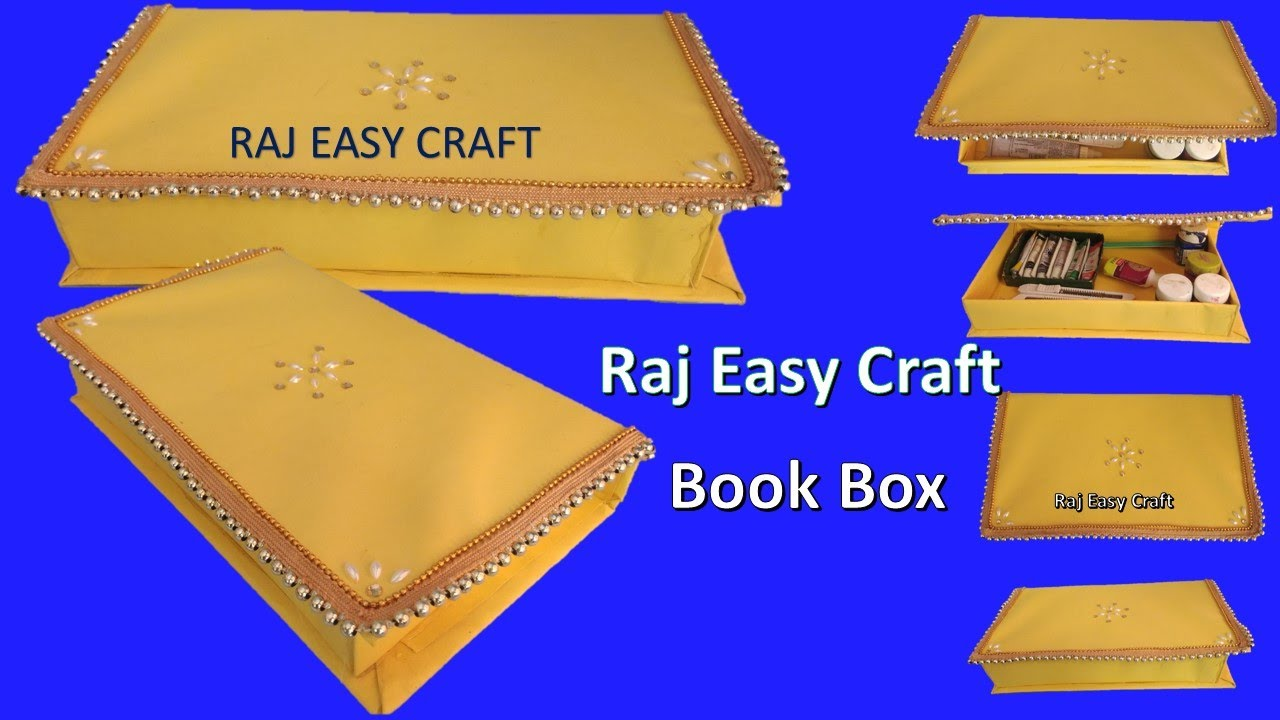 How To Make Book Box Diy 5 Minutes Craft Diy Box Youtube