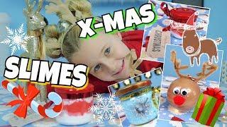 3 CHRISTMAS SLIME 🎅 Diy Geschenke Weihnachten Wichteln  | MaVie