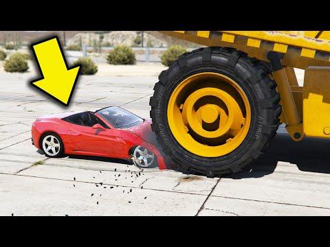 Seberapa Hancur Mobil Jess No Limit - GTA5 Crash Test