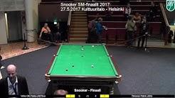 Biljardin SM-finaalit 2017 - Snooker