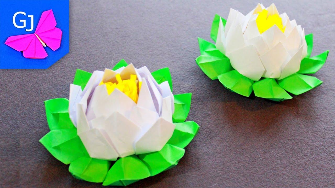 Как сделать оригами белый цветок фото 204