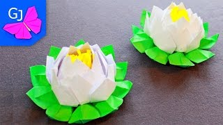 кувшинка из бумаги оригами