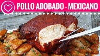 POLLO AL HORNO CON PAPAS Y CEBOLLA - ADOBADO - OVEN ROASTED CHICKEN WITH POTATOES