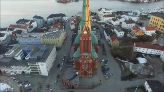 Evening flight Arendal Norway - Drone films Norway