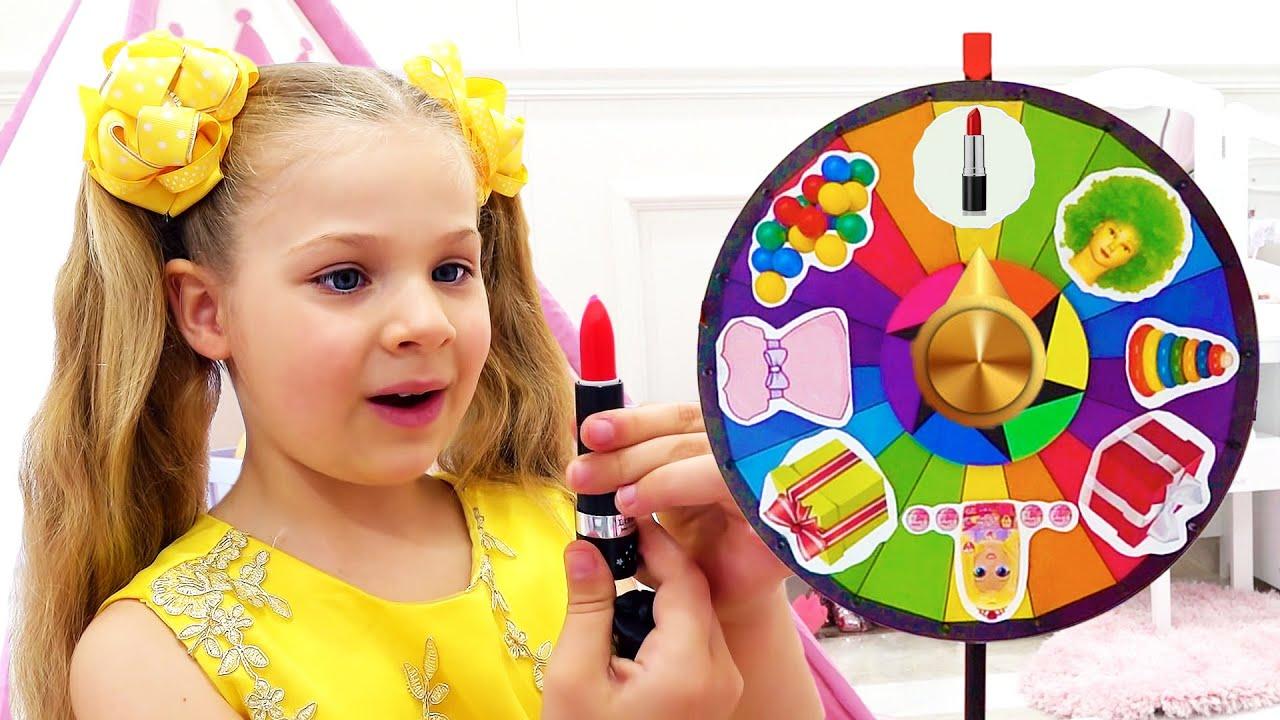डायना और रोमा मैजिक व्हील चैलेंज Magic Wheel Challenge
