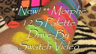 new morphe 12s palette drive by swatches
