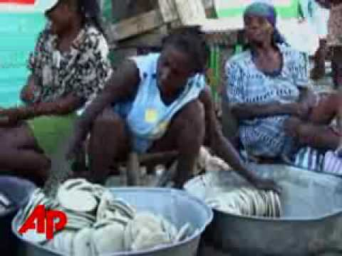 Struggling Haitians mix salt, oil and dirt to make 'mud cookies' to avoid starvation