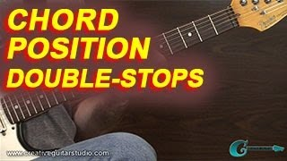 guitar theory chord position double stops