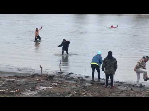 Going in the Water Standing Rock