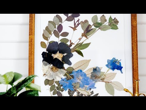 How to make pressed flower wall art