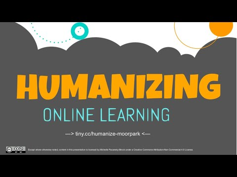 Humanizing Online Learning: the Secret Sauce for Student Success
