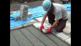 自然石舗装・平板舗装・インターロッキング舗装の新工法 エヴォストーン工法@石狩 thumbnail