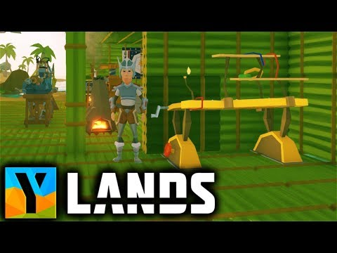 Ylands - ENERGY WORKBENCH & YLANDIUM Refinery (Drive Belt Auger Vacuum Tube) Ylands Gameplay Part 11