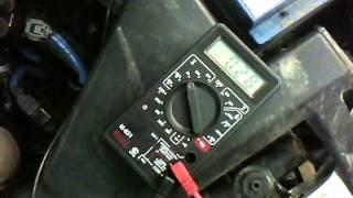 Проверка напряжения на лямбда 1 Hyundai Accent с ДМРВ попытка №1