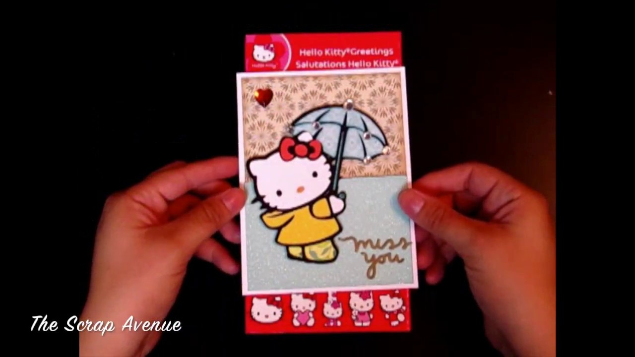 Rainy day miss you cardhello kitty greetings cricut cartridge youtube rainy day miss you cardhello kitty greetings cricut cartridge m4hsunfo