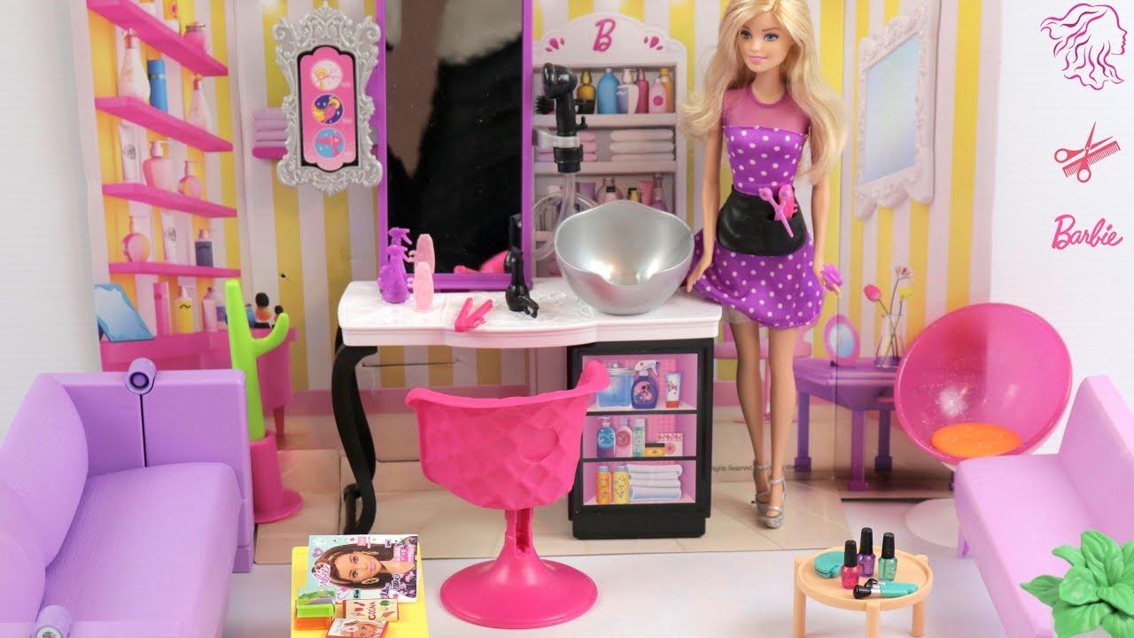 Barbie Hair Salon Pretend Play Dolls