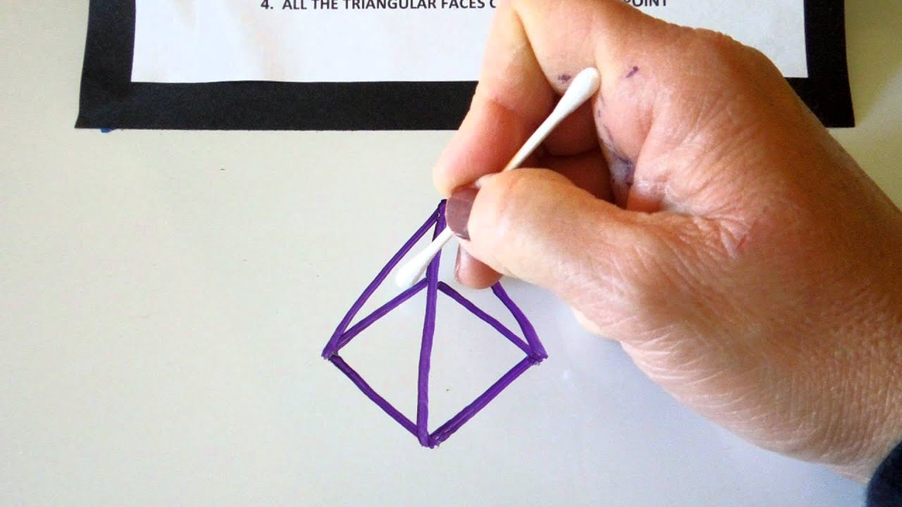 Pyramid...how to draw a square pyramid - YouTube