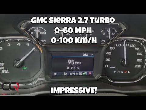 GMC Sierra Elevation 2.7 Turbo   Acceleration test   0-60 Mph / 0-100 Km/h