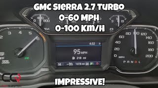 GMC Sierra Elevation 2.7 Turbo | Acceleration test  | 0-60 Mph / 0-100 Km/h