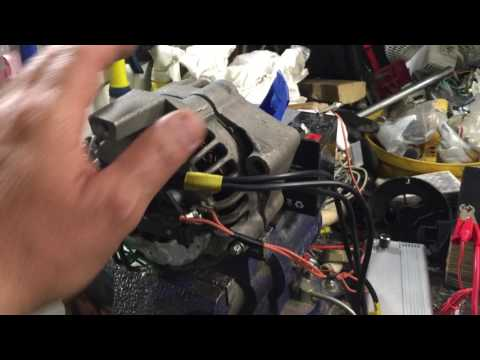 alternador  convertido a motor