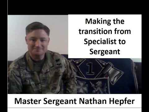 Making A Successful Transition From Soldier To Non-Commissioned Officer (NCO)