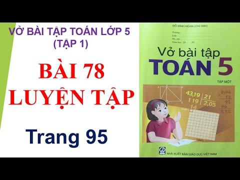 Bài 78 Luyện tập, trang 95 vbt toán lớp 5