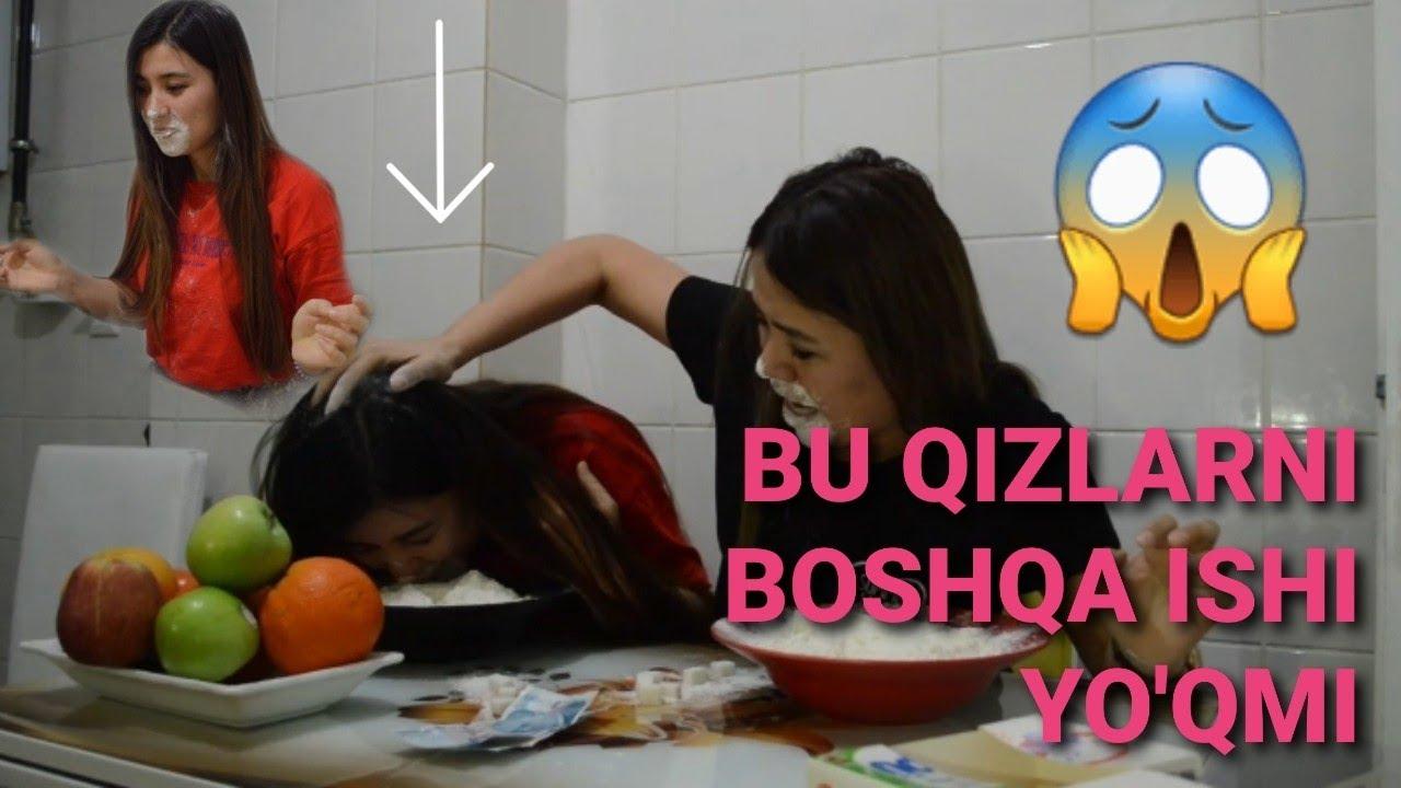 Uzbek Qizlari Turkiyeda Urushdi / Çılgın kızlar - YouTube