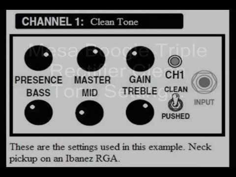 Guitar Amp SettingsMesa Boogie Triple Rectifier Amp Clean