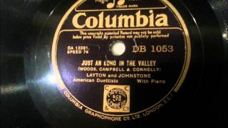 Just An Echo In The Valley - Layton and Johnstone