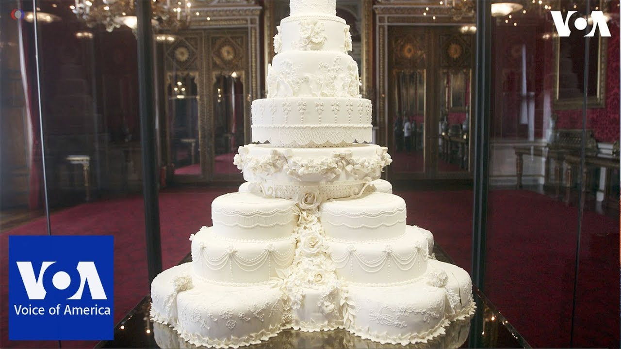 Prince Harry and Meghan Markle s wedding cake   YouTube Prince Harry and Meghan Markle s wedding cake