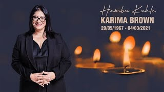 Memorial Service Of The Late Journalist And Broadcaster Karima Brown