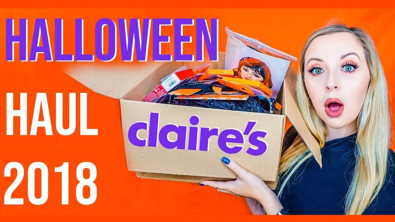 claire's halloween haul 🎃   beeluxury⚡ - youtube