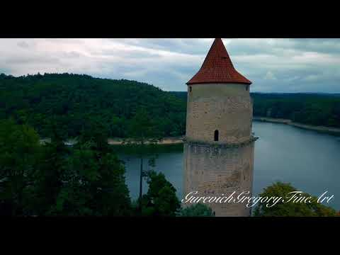 Zvíkov Castle, Czech Republic. 4k. 2