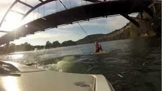 Learn to wakesurf in Austin Texas - How to stand up on a wakesurf board